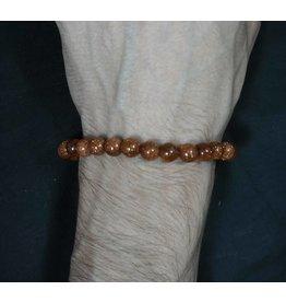 Elastic Bracelet 8mm Round Beads – Goldstone