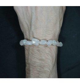 Tumbled Stone Bracelet - Rose Quartz