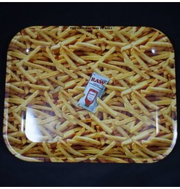 Raw French Fries Metal Rolling Tray- Large