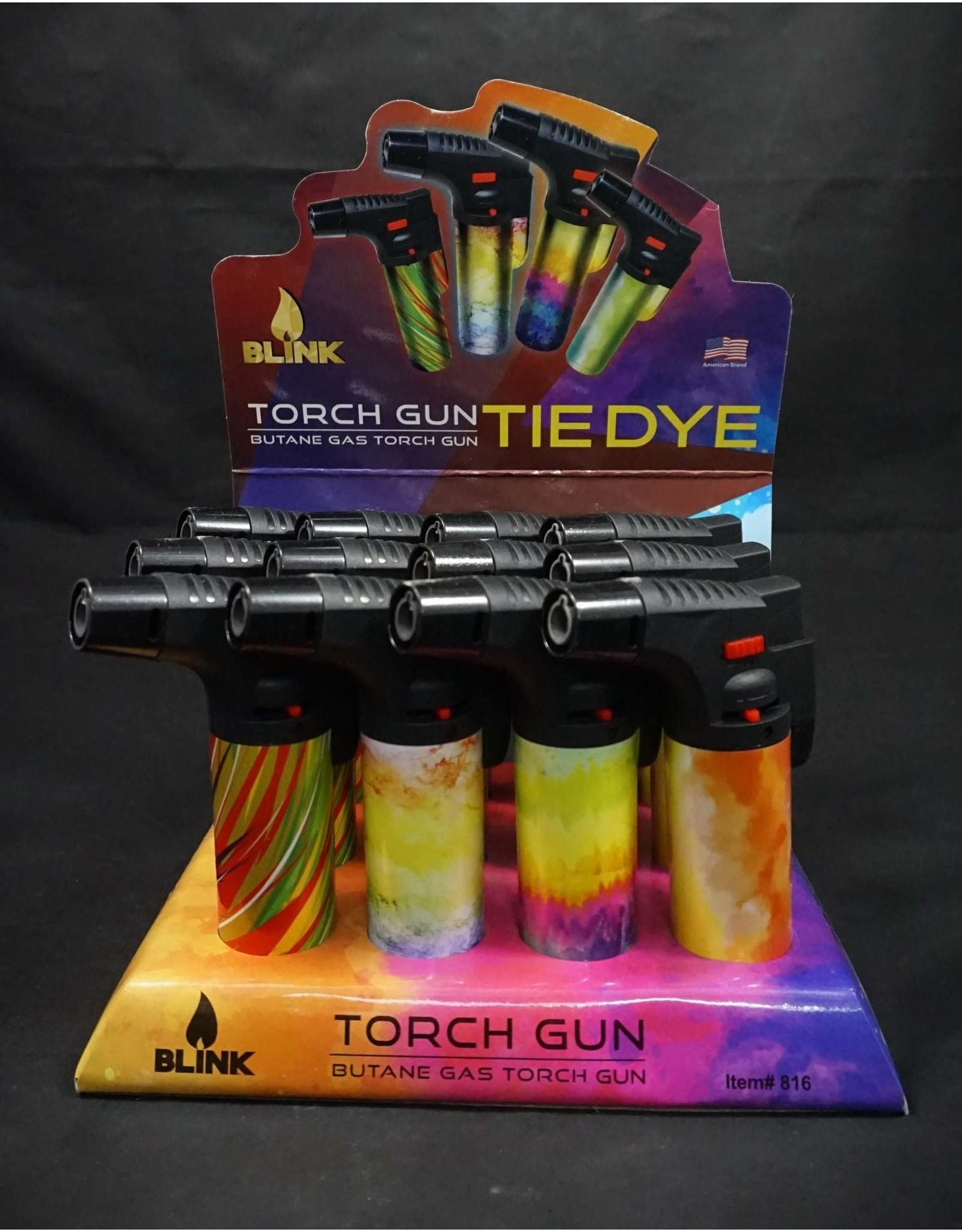 Blink Refillable Butane Torch Gun - Tie-Dye