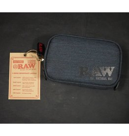 Raw Black Smell Proof Smokers Pouch - Small (Half Ounce)