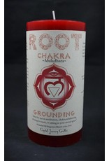 Crystal Journey 3x6 Chakra Pillar - Root
