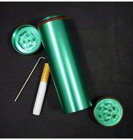 All in 1 Metal Smoke Stopper w/ Poker & Grinder - Green
