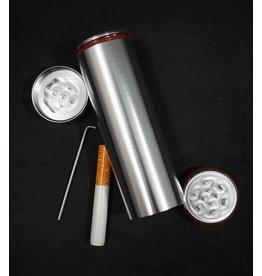 All in 1 Metal Smoke Stopper w/ Poker & Grinder - Black