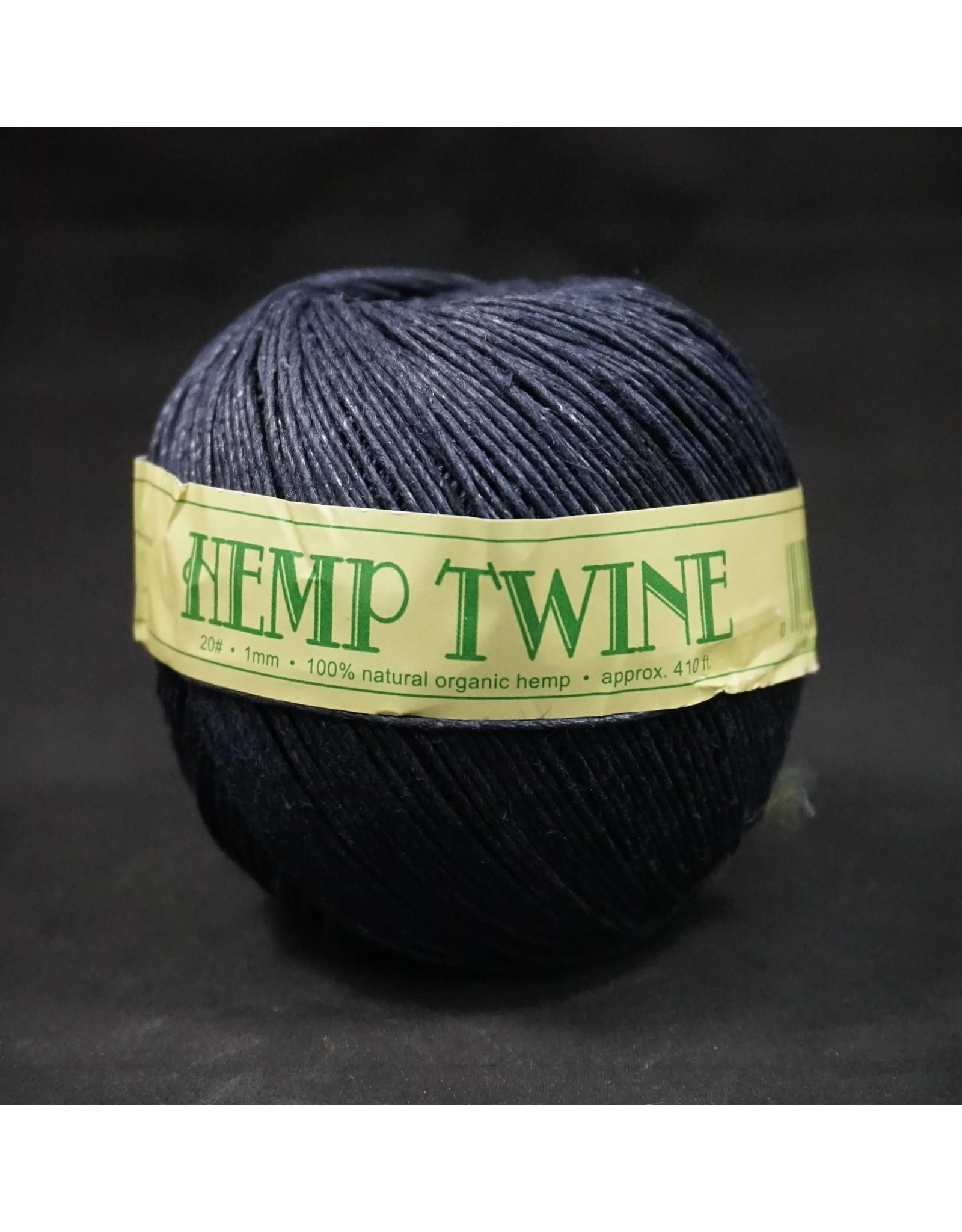 Dark Blue Hemp Twine 1mm 100g