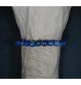 Elastic Bracelet 8mm Round Beads – Lapis Lazuli