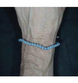 Elastic Bracelet 4mm Round Beads - Angelite