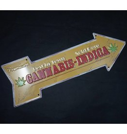 Arrow Metal Sign - Premium Cannabis Sold Here