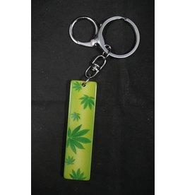 Yellow/Green Leaf Keychain