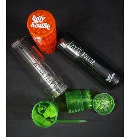 LayzeRoller 3-in-1 Grinder Stash Jar - Assorted Colors