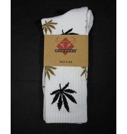 Mad Toro Mad Toro Socks Black w/  Rasta Leaves and Stripes