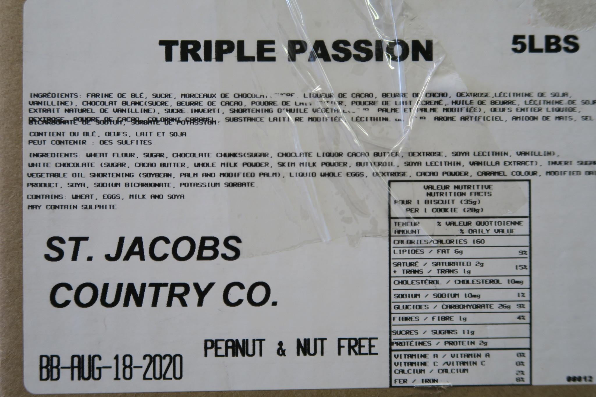 St Jacobs Country Bulk Triple Passion 5lb Box