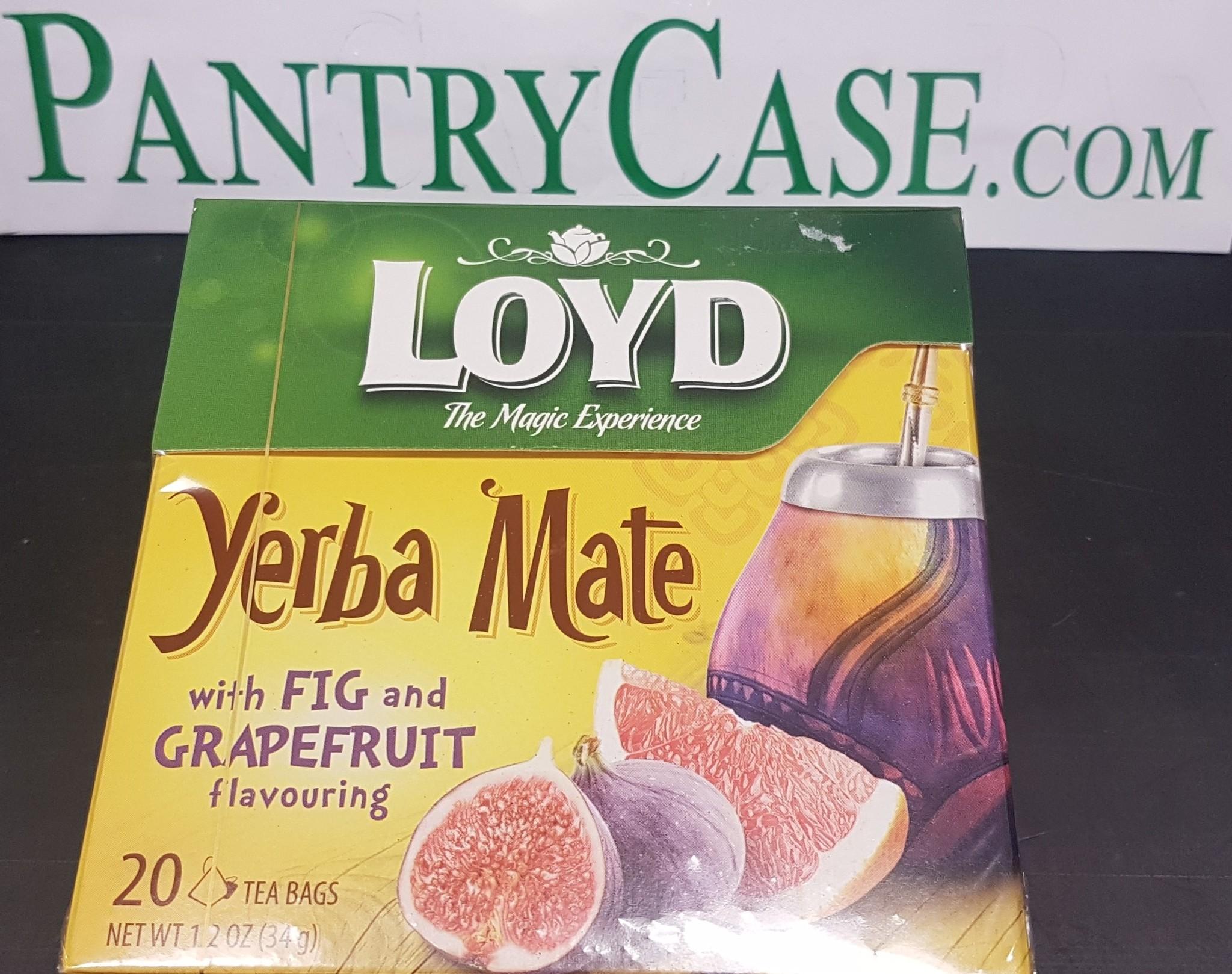 Loyd Yerba Mate Fig and Grapefruit Tea 20pk