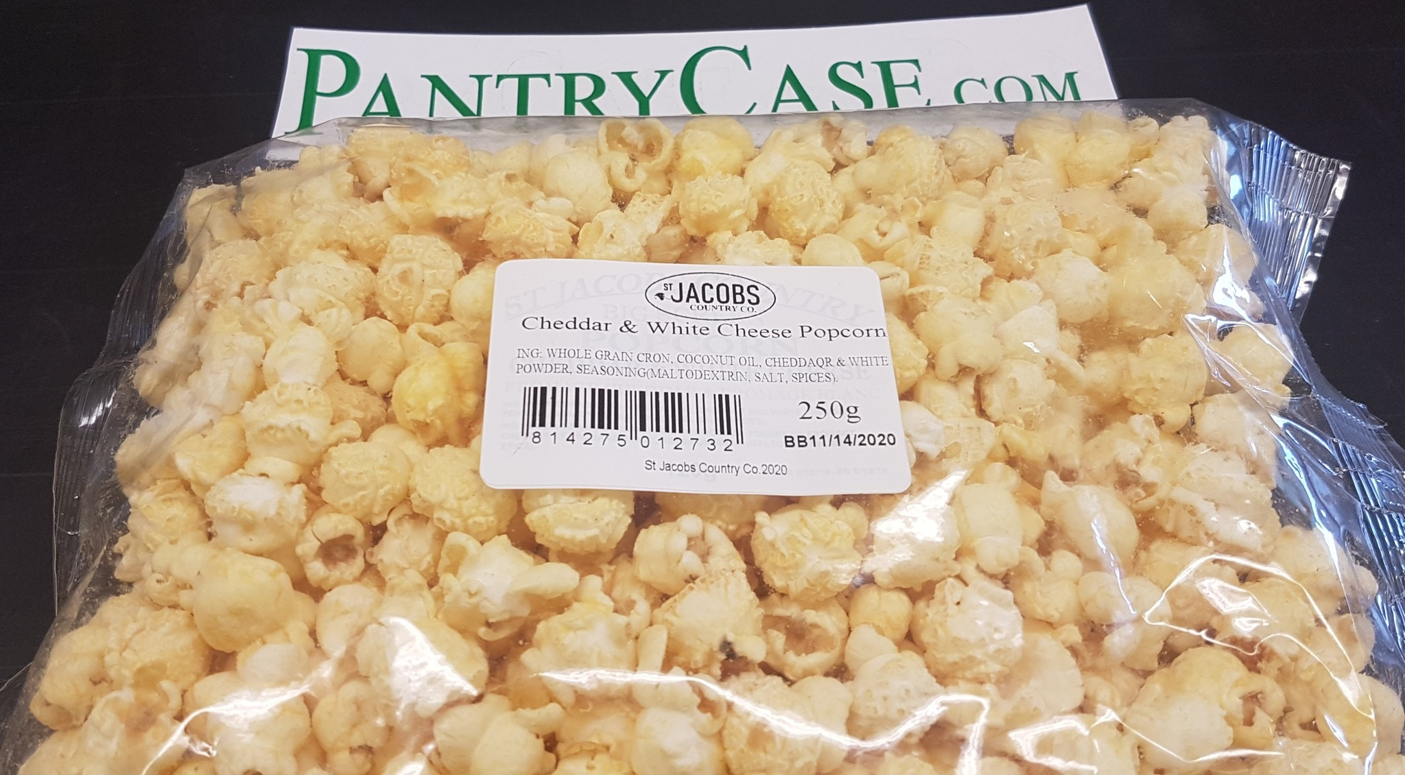 St Jacobs Country Cheddar & White Cheese Popcorn x150g