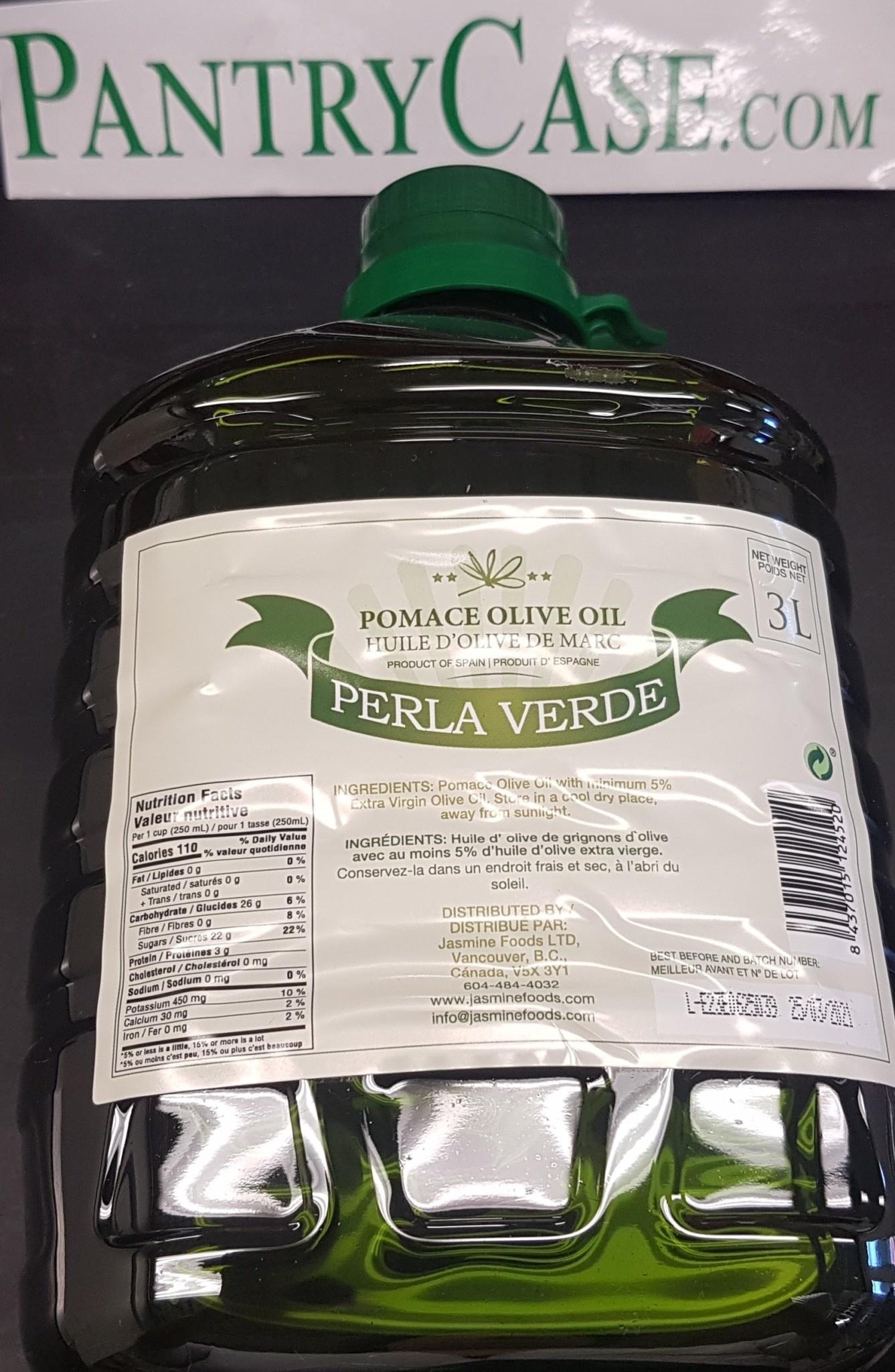 Pomace Olive Oil Perla Verde Olive Oil 3l