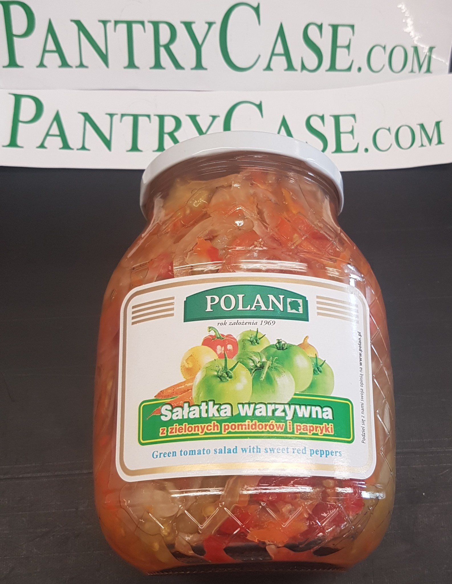 Polan Green Tomato salad with Sweet Red Pepper 850ml