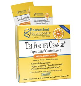 Researched Nutritionals Tri-Fortify Glutathione- Orange 20 count