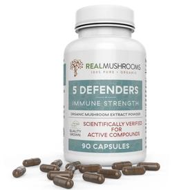 Real Mushrooms 5 Defenders 90 count