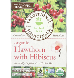 Traditional Medicinals Organic Hawthorn w/ Hibiscus Tea 16 count