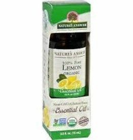 NATURE'S ANSWER Organic Lemon EO .5 fl. oz.