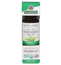 NATURE'S ANSWER Organic Lemongrass EO .5 fl oz.