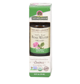 NATURE'S ANSWER Organic Rose Water EO .5 fl. oz.