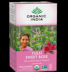 ORGANIC INDIA Tulsi Tea- Sweet Rose 18 count