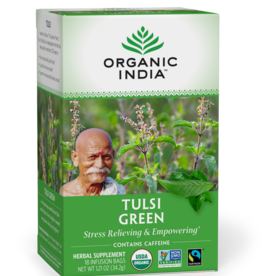 ORGANIC INDIA Tulsi Tea- Green Tea 18 count