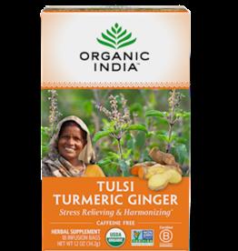 ORGANIC INDIA Tulsi Tea- Turmeric Ginger 18 count