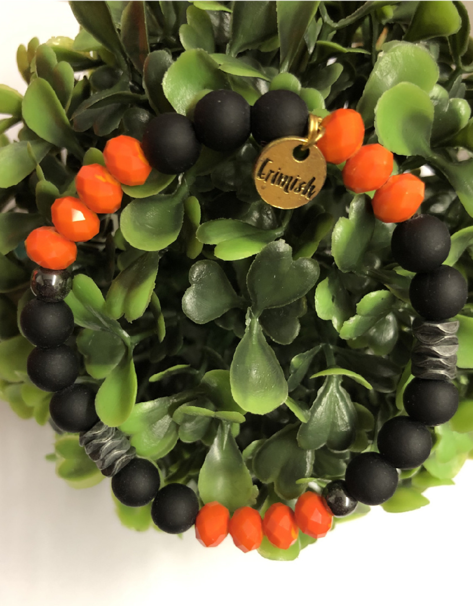 Erimish Andy Orange and Black Erimish Bracelet