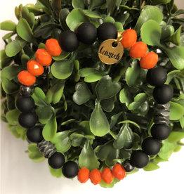 Erimish Andy Orange and Black Erimish Bracelet