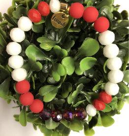 Erimish Phillip red and White Erimish Bracelet
