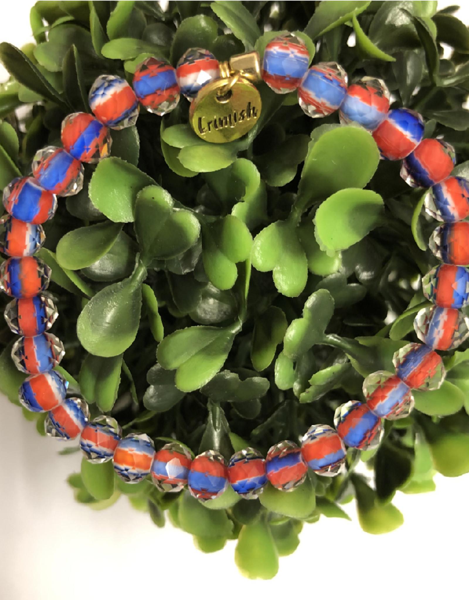 Erimish Eric Orange and Blue Erimish Bracelet