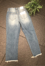 YMI Distressed Ankle Jean with Fray