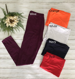 SASS Boutique Exclusive Regular Size Full Length Leggings (Multiple Colors)