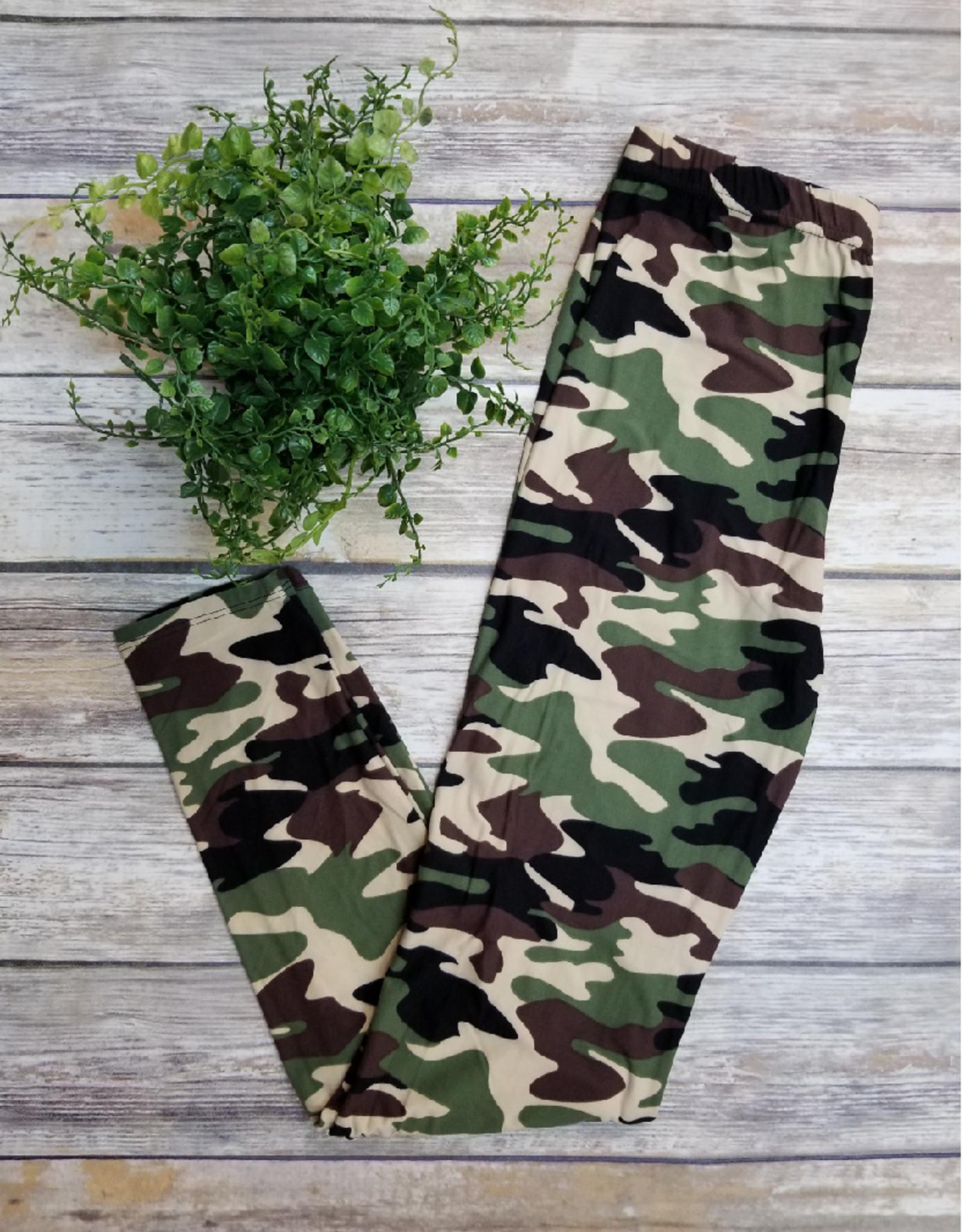2NE1 Apparel Regular Size Full Length Printed Brushed Leggings