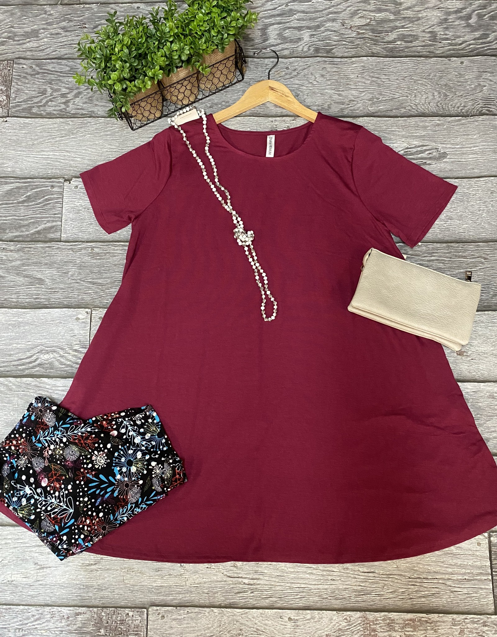 Zenana Wholesale Short Sleeve Tunic