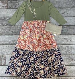 SASS Boutique Exclusive Sage Tiered Midi Dress