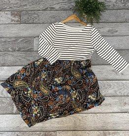 SASS Boutique Exclusive Black/Black Paisley Maxi Dress