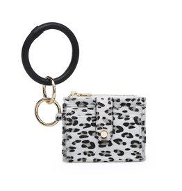 SASS Boutique Exclusive White Leopard Mini Snap Wallet