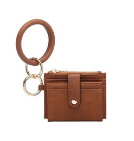 SASS Boutique Exclusive Brown Mini Snap Wallet