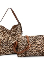 SASS Boutique Exclusive Leopard 2-1 Hobo Bag