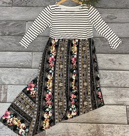 SASS Boutique Exclusive Black Stripe Maxi Dress