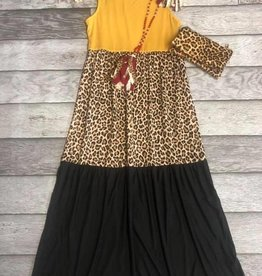 SASS Boutique Exclusive Mustard Animal Print Dress