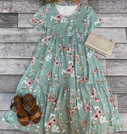 SASS Boutique Exclusive Sage Floral Midi Dress
