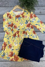 SASS Boutique Exclusive Yellow Floral Babydoll Top