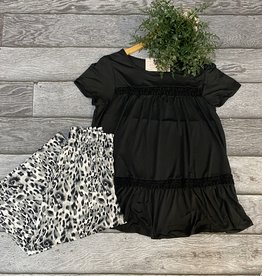 SASS Boutique Exclusive Black Top with flower lace
