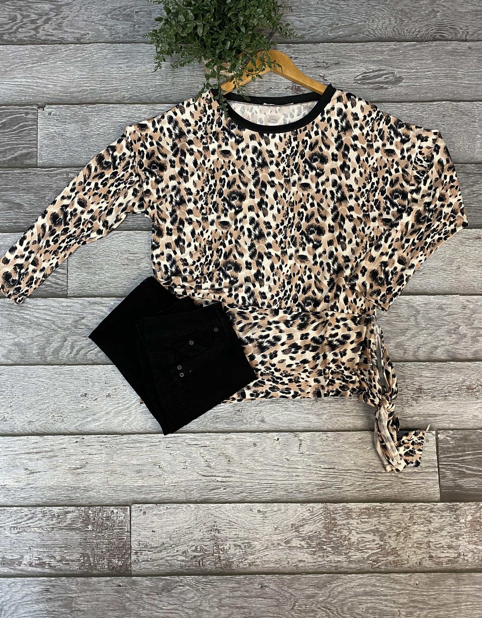SASS Boutique Exclusive Leopard Dolman Top