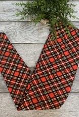 SASS Boutique Exclusive Red Plaid Leggings