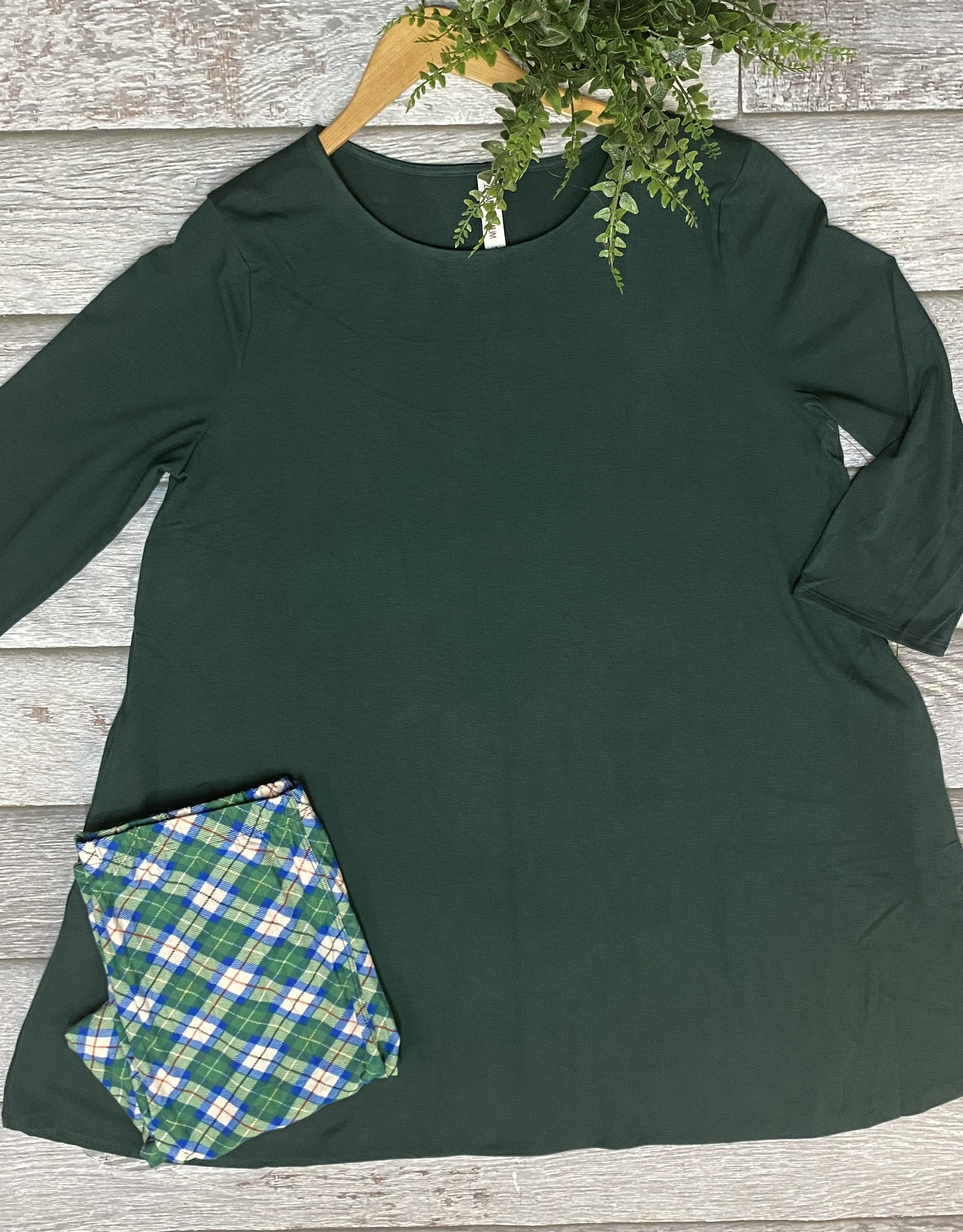 SASS Boutique Exclusive Green Plaid Leggings